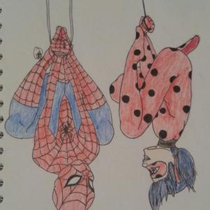 Default spider man   ladybug