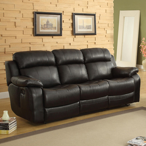 Default eland black recliner drop down cupholder sofa p14803474