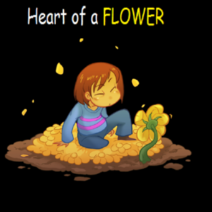Default heart of a flower cover