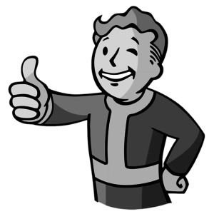 Default vault boy black and white