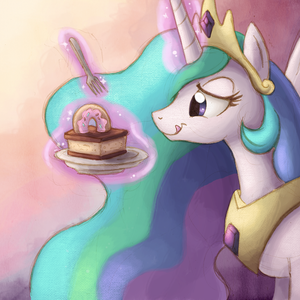 Default princess celestia with cake by ric m d50n1wg