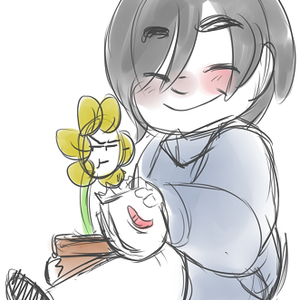 Default frisk and flowey