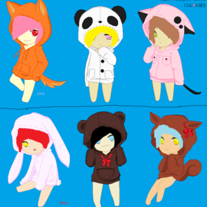 Default  137  chibi animal hoodie pixel base  remake  by clgbases d8o0u9r