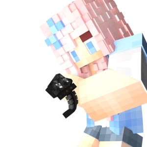 Default  minecraft  girl with pet wither   cinema4d render by starap d8xxbnu