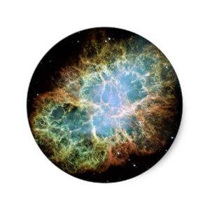 Default crab nebula round sticker r8a21935cee9a433ba1f525e523d1e9ca v9waf 8byvr 324