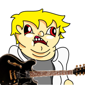 Default kai with a guitar