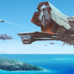 Default sci fi battle space ship wallpaper