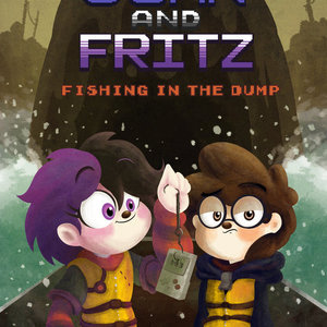 Default joan and fritz fishing in the dump comic cover