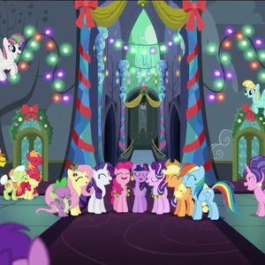 Default ponies sing together in the castle of friendship s6e8
