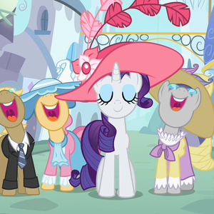 Default ponies singing around rarity s2e9