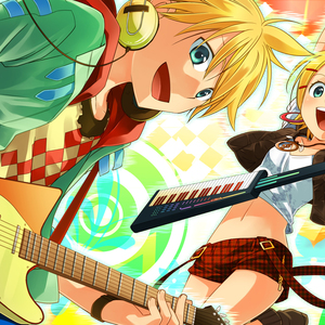 Default wallpapersxl guitar tags anime vocaloid kagamine rin len 1781118 1920x1080