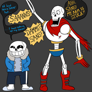 Default sans and papyrus  you look like you need a  hand  by dragonfire1000 d9juf7u