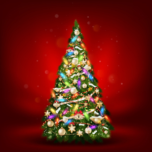 Default beautiful christmas tree 2015 background vector 01