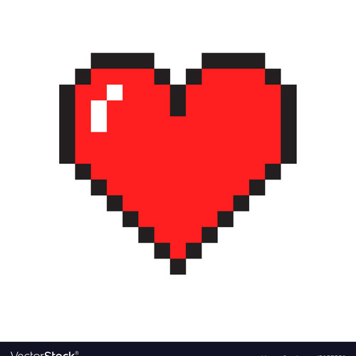 Default pixel heart vector 5953559