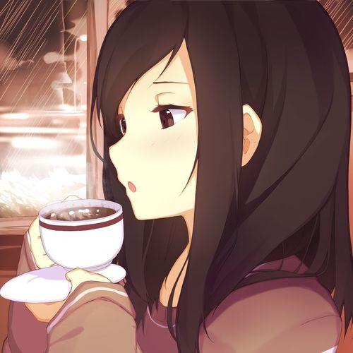 Default anime girl drinking anima girls anime vocaloid videogam fanart coffee break animals artworks
