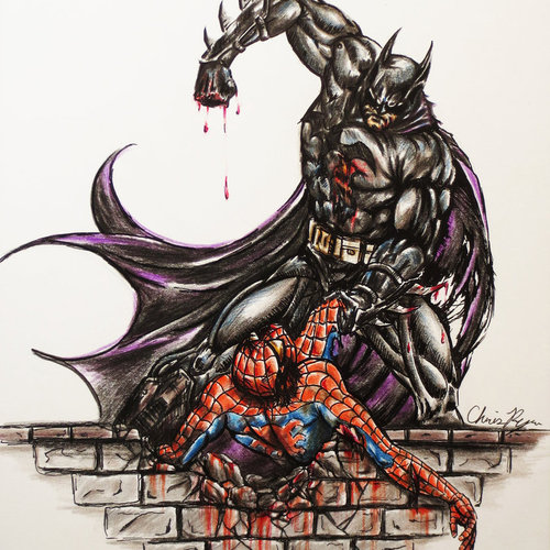 Default batman vs spiderman by cirker d5flly3