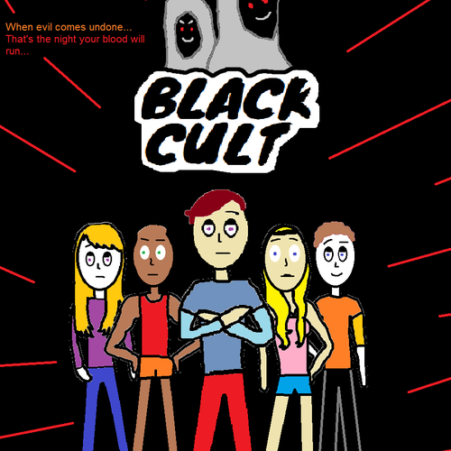 Default black cult official poster