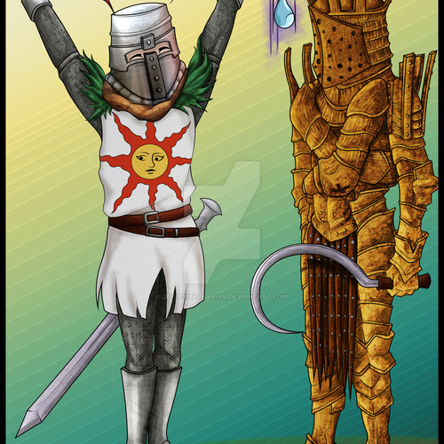 Default solaire of astora and lautrec of carim by jeyjeymalkavian d6q22r6