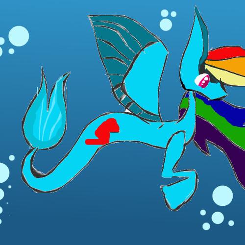 Default rainbow dash mer pony