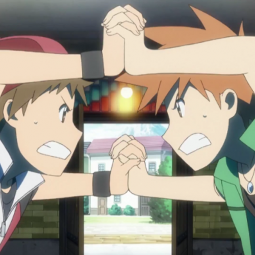 Default red and green pokemon origins