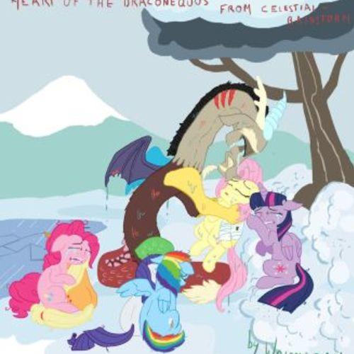 Default fluttershy sad scene fanart heart draconequuscomic by wolfmarian dap2oyx