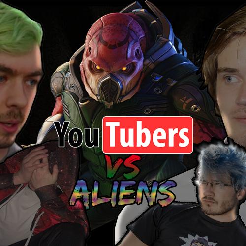 Default youtubers vs aliens