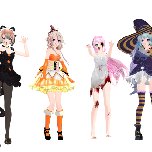 Default    mmd halloween models download    by glados senpai d9cm555