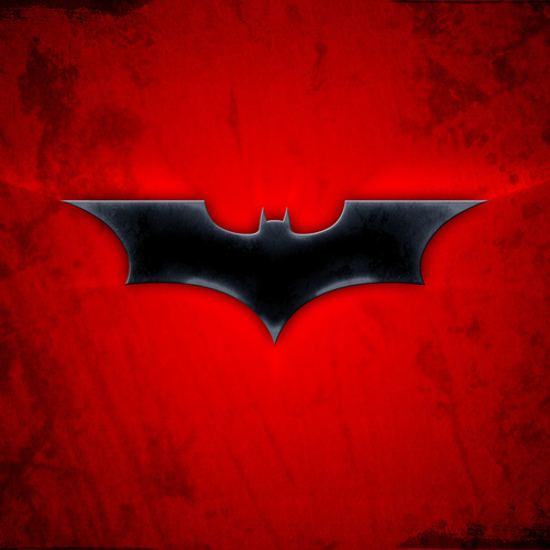 Default red batman logo wallpaper 1