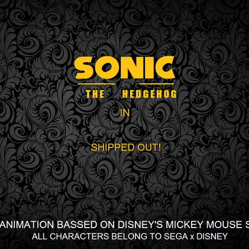 Default sonic the hedgehog in shipped out logo