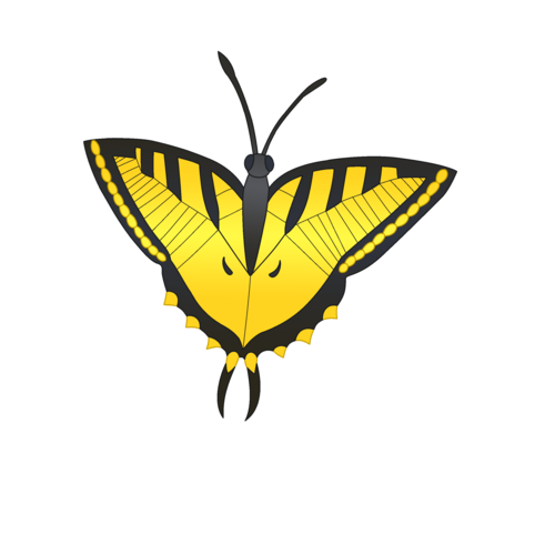 Default yellow butterfly