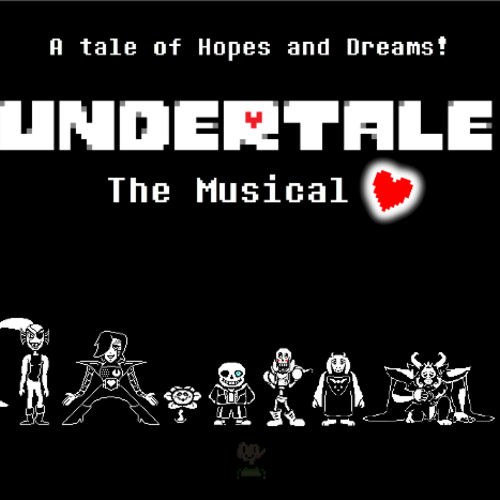 Default undertale the musical poster 1