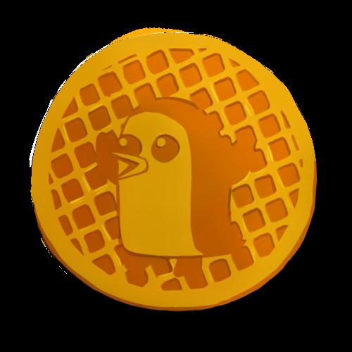 Default pengu on a waffle  1