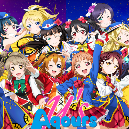 Default love live muse and aqours wallpaper  photoshop  by silverblue14 dbr26nl