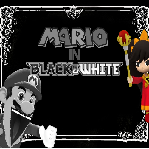 Default mario in black and white 2