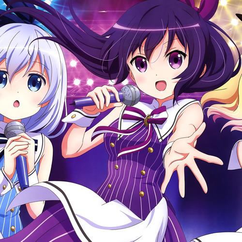 Default 313321 anime anime girls microphones music idol singing gochuumon wa usagi desu ka kafuu chino kirima sharo tedeza rize