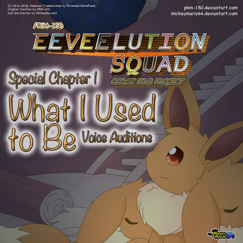 Default eeveelution squad comic dub project special chapter 1 auditions cover