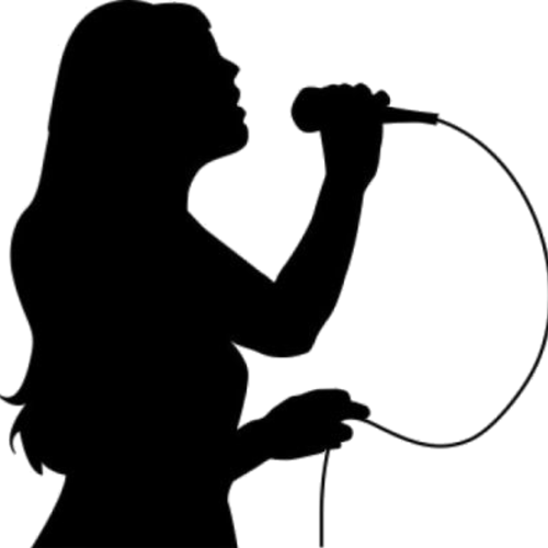 Default png singing black and white  400