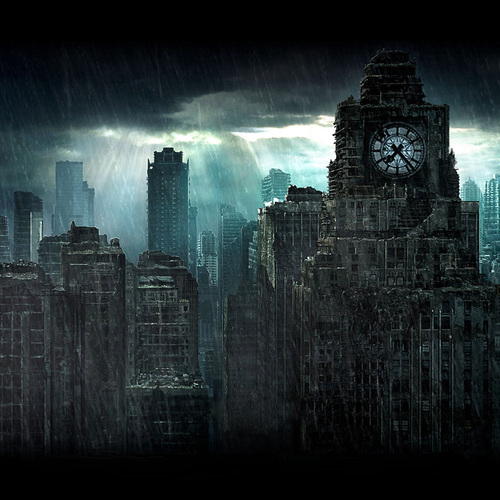 Default dark city background 012