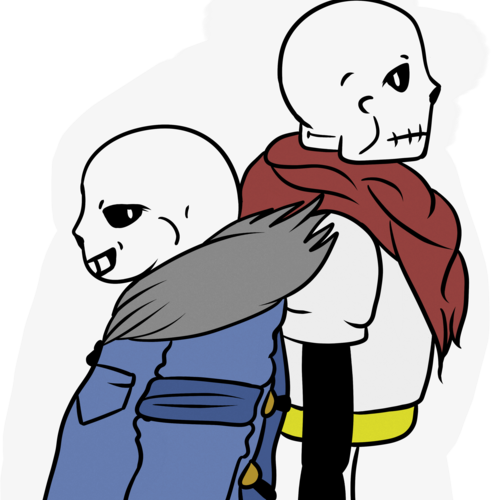 Default sans and papyrus