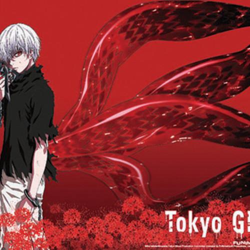 Default 699858795765 merchandise tokyo ghoul kaneki fabric poster red spider lilies primary