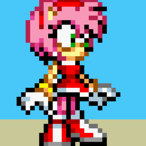Default amy rose sprite by nardsofdoom