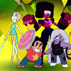 Default crystal gems ready to fight fan pic of extended theme