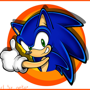 Default sonic the hedgehog by federica92