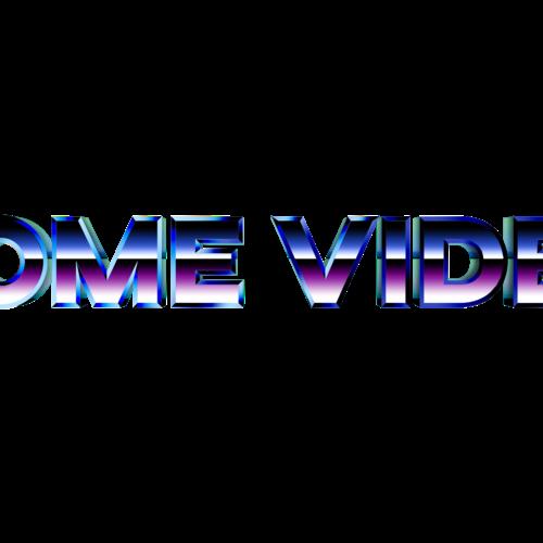 Default home video retro logo 3d