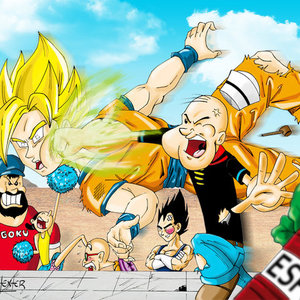 Default goku vs popeye by sanchexter