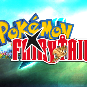 Default pokemon x fairy tail logo with bg