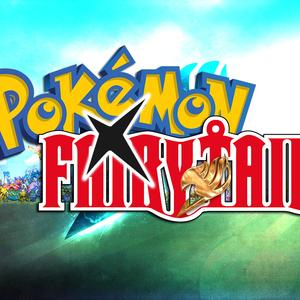 Default pokemon x fairy tail logo with bg