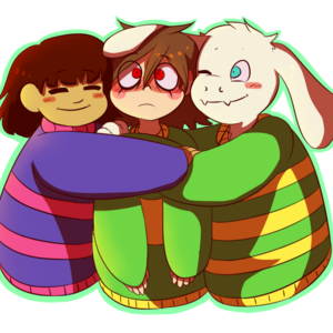 Default asriel fwisk and chara