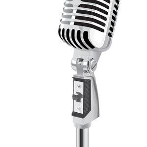 Default old fashioned mic clipart 1
