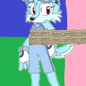 Default the blue coyote by flamongirl13 d50nsxk  1